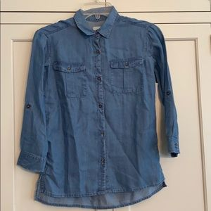 Old Navy girls chambray blouse Size 8